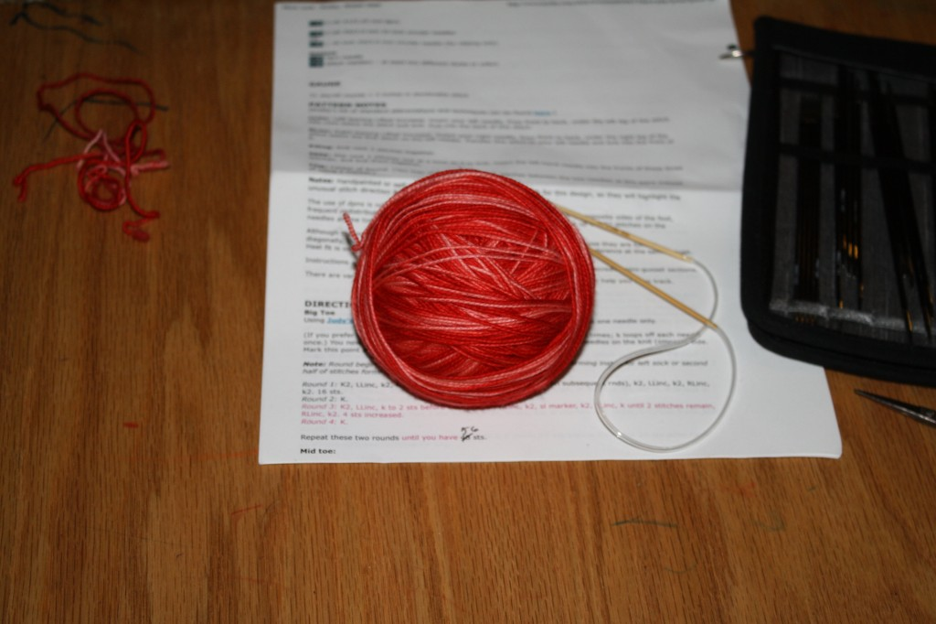 yarn rolled into a ball and ready to knit