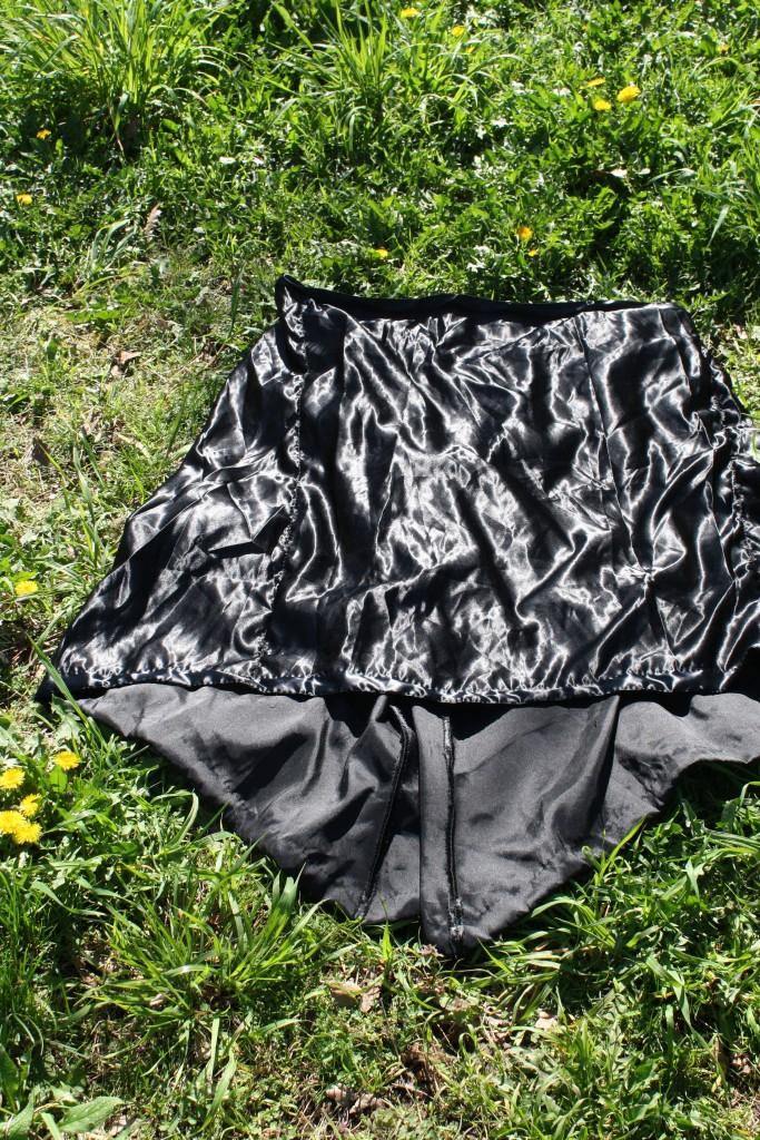 DIY victorian style gored satin skirt